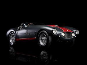Fotos Ferrari Antik Schwarzer Hintergrund 1953 Classic 166 MM/53 Spyder Autos