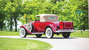 Hintergrundbilder Buick Antik Coupe Rot Hinten 1932 Series 90 Convertible Coupe Autos