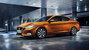 Fondos de Pantalla Nissan Naranja Metálico 2019 Sylphy China Coches