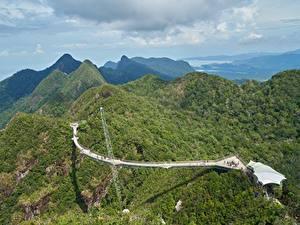Bilder Malaysia Gebirge Wälder Landschaftsfotografie Brücken Langkawi Natur