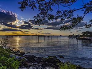 Fotos USA Parks Sonnenaufgänge und Sonnenuntergänge Küste Bucht Calvert Vaux Park Brooklyn