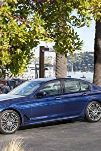 Bilder BMW Metallisch Blau 2018 540i Sedan M Sport Autos