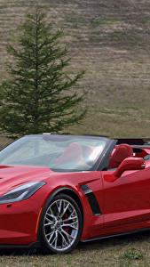 Bilder Chevrolet Cabrio Rot Metallisch  Autos