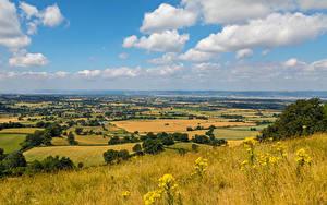Fotos England Landschaftsfotografie Herbst Acker Gras Gloucestershire