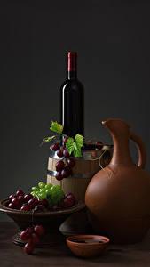 Bilder Stillleben Wein Weintraube Fass Kanne Flasche das Essen