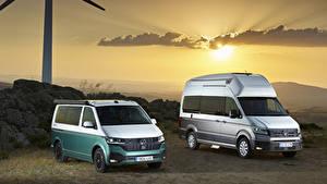 Bilder Volkswagen Zwei Ein Van Volkswagen California, Volkswagen Grand California