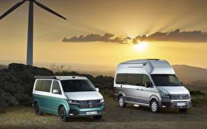 Bakgrundsbilder på skrivbordet Volkswagen Två 2 Minibuss Volkswagen California, Volkswagen Grand California Bilar