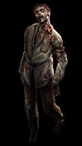 Bilder Zombie Schwarzer Hintergrund Fantasy