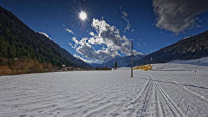 Hintergrundbilder Österreich Winter Berg Schnee Wolke Sonne Tyrol