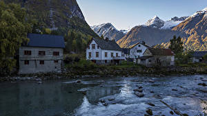 Bilder Schweden Haus Gebirge Flusse Städte