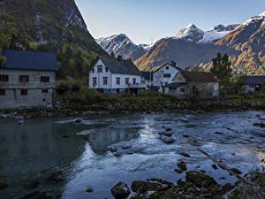 Bilder Schweden Haus Gebirge Flusse