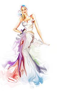 Fonds d'écran Dessiné Fond blanc Les robes