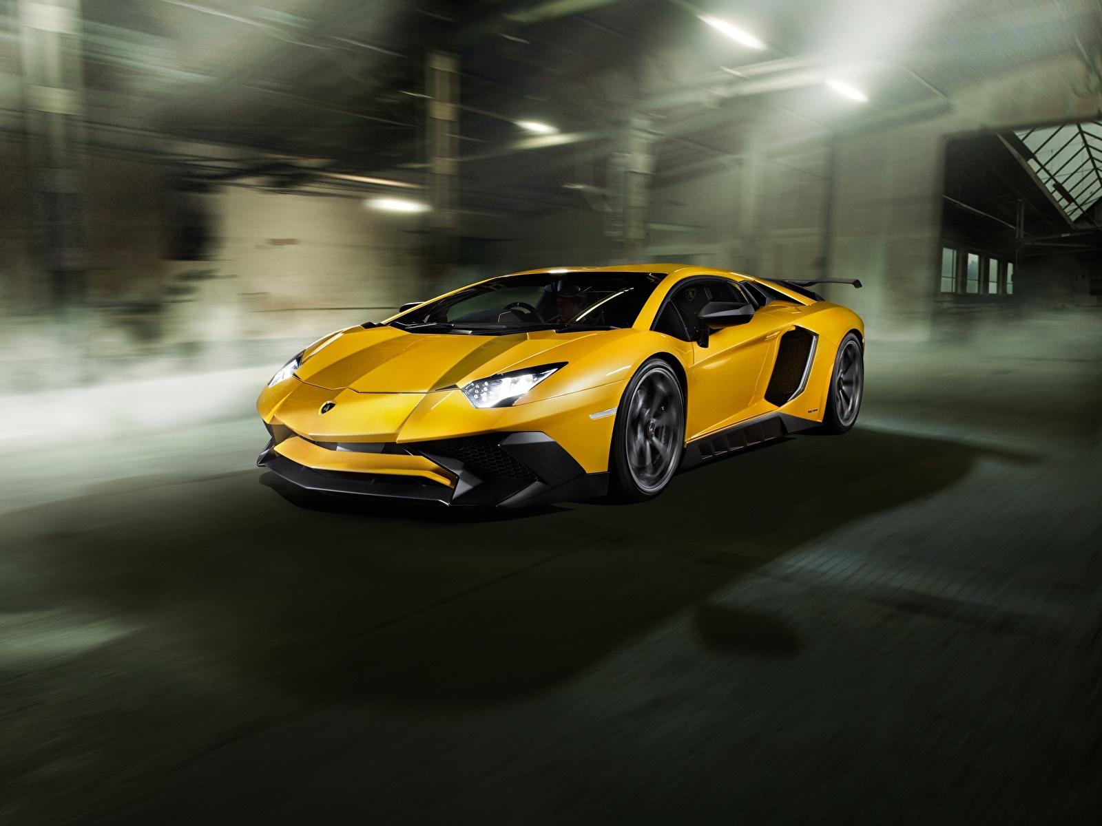Fotos Lamborghini Aventador Novitec Torado LP 750-4 Gelb Autos 1600x1200 auto automobil