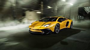 Hintergrundbilder Lamborghini Gelb Aventador Novitec Torado LP 750-4 Autos