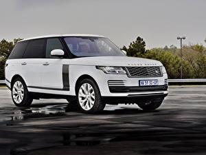 Hintergrundbilder Land Rover SUV Weiß 2019 P400e Vogue SE Autos