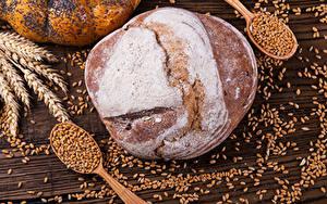 Bilder Backware Brot Weizen Ähre Getreide Löffel Lebensmittel