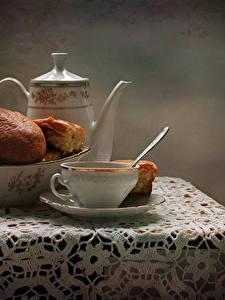 Hintergrundbilder Stillleben Backware Flötenkessel Brötchen Tisch Tasse Lebensmittel
