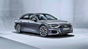 Hintergrundbilder Audi Grau Metallisch A6 50 TDI quattro S line Worldwide Autos