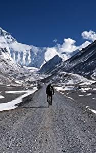 Fotos Berg Fahrräder Natur Sport