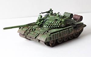 Hintergrundbilder Panzer Spielzeuge Russische Weißer hintergrund T-55 AMV Heer