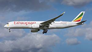 Fotos Airbus Flugzeuge Verkehrsflugzeug Seitlich Ethiopian Airlines, A350-900