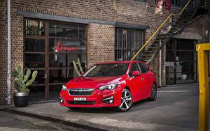 Hintergrundbilder Subaru Rot Metallisch 2016-20 Impreza 5-door 2.0i S