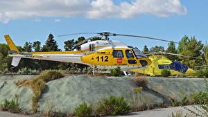 Hintergrundbilder Hubschrauber Zwei Seitlich