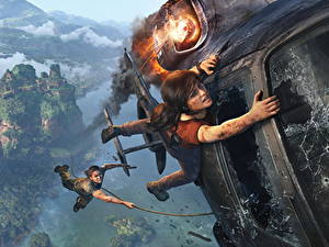 Bilder Hubschrauber Uncharted: The Lost Legacy Katastrophen 2 Chloe Fraser, Nadine Ross Spiele Mädchens