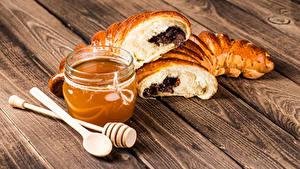 Hintergrundbilder Honig Backware Bretter Weckglas das Essen