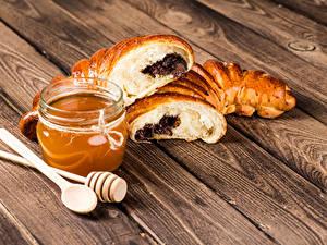 Hintergrundbilder Honig Backware Bretter Einweckglas Lebensmittel