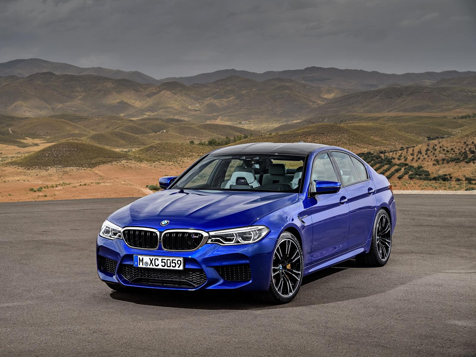 Fotos von BMW M5 2017 M5 F90 Blau Autos 1600x1200 auto automobil