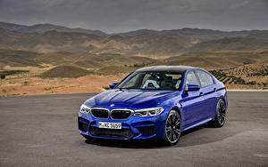Hintergrundbilder BMW Blau M5 2017 M5 F90 Autos
