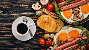 Images Coffee Bread Vienna sausage Mushrooms Tomatoes Breakfast Cup Egg Fried egg