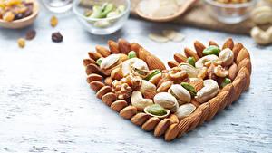 Papéis de parede Dia dos Namorados Noz Design Coração Alimentos