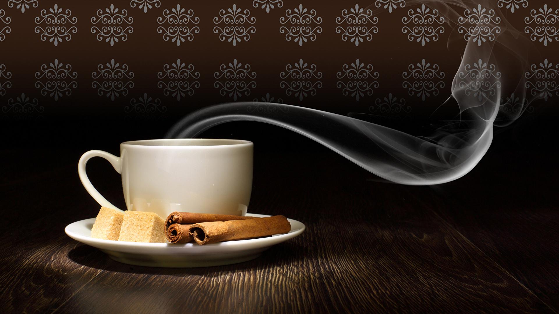 Desktop Wallpapers Sugar Cinnamon Cup Food Vapor 1920x1080