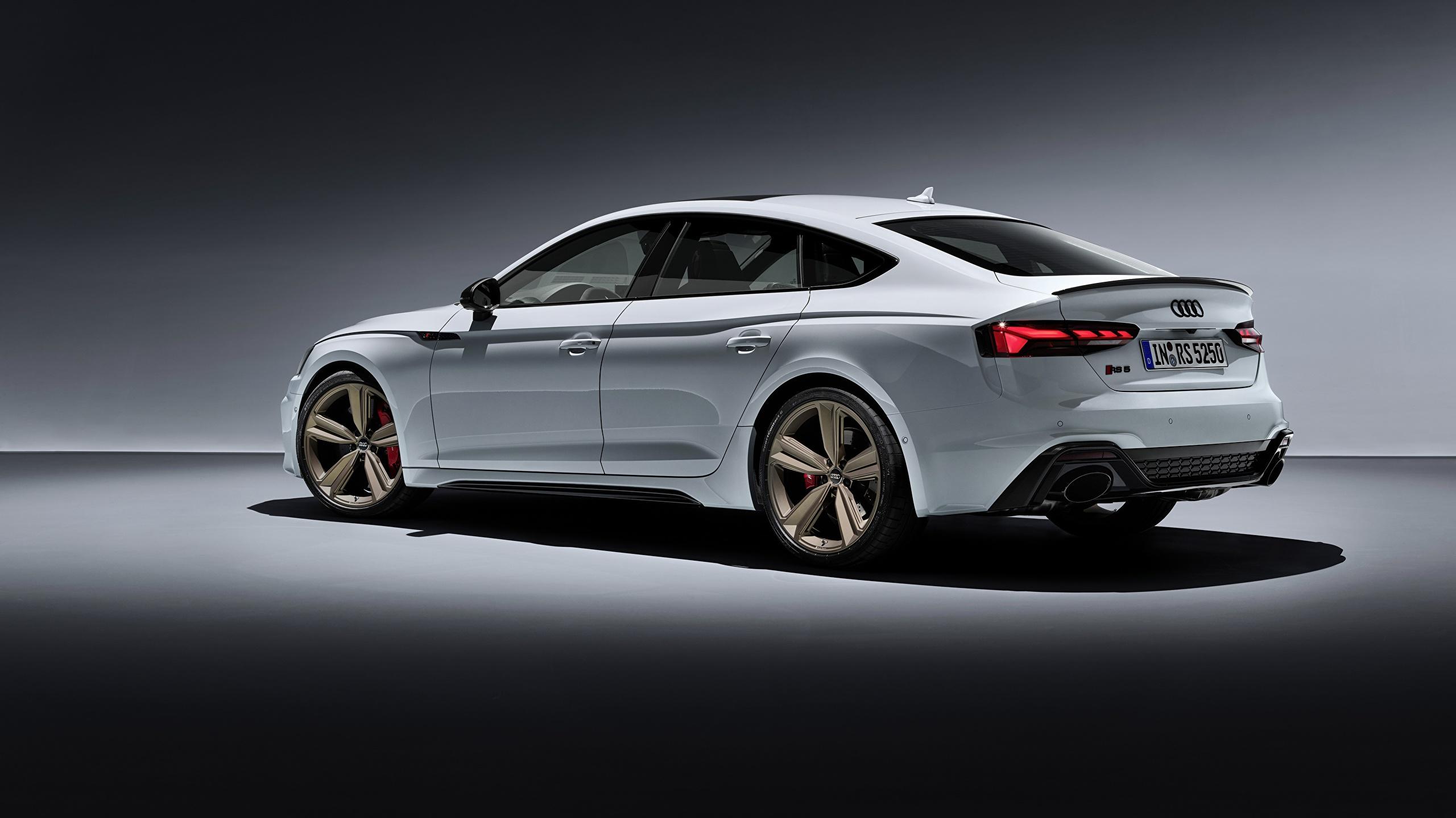 Papeis De Parede 2560x1440 Audi Rs5 Sportback Rs 5 2020 Branco Metalico Lateralmente Carros Baixar Imagens