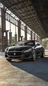 Papel de Parede Desktop Maserati Cinza Metálico 2017 Quattroporte GTS GranSport carro