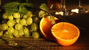 Fotos Weintraube Apfelsine das Essen