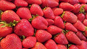 Fotos Erdbeeren Viel Hautnah Textur