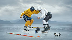 Wallpapers Hockey 2 Uniform Fight Ice rink