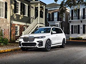 Papéis de parede BMW Branco Crossover 2020 X7 xDrive50i M Sport Carros