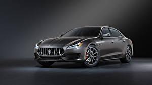 桌面壁纸,,瑪莎拉蒂,灰色,金屬漆,Quattroporte GT Sport Package, M156, 2020,汽车