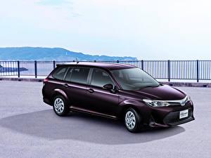 Hintergrundbilder Toyota Violett Hybrid Autos 2017-18 Corolla Fielder Hybrid