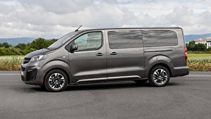 Hintergrundbilder Opel Ein Van Graue Seitlich 2019 Zafira Life Large auto