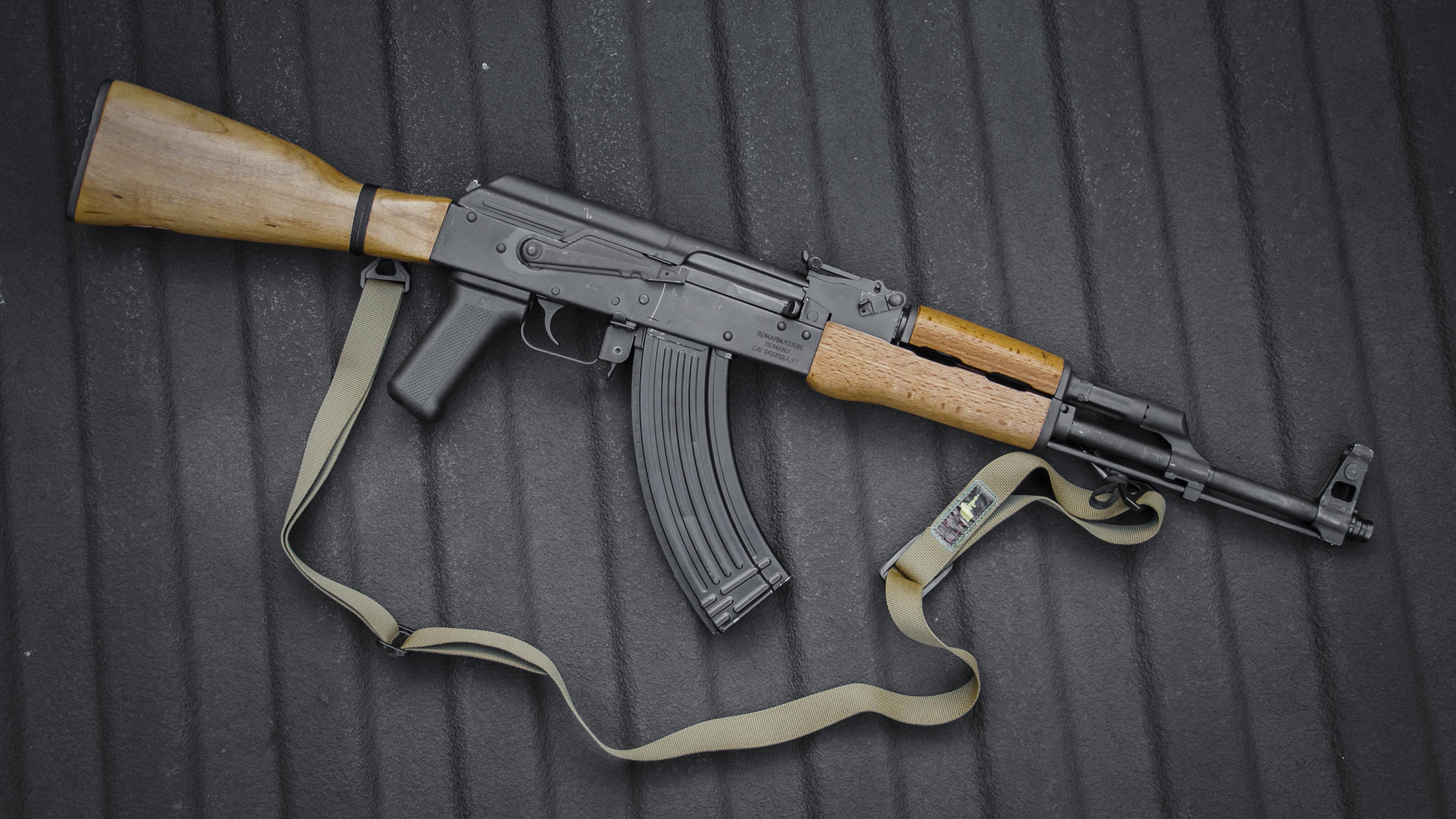 Fotos AK 47 Sturmgewehr russischer Heer 3840x2160 Kalaschnikow Russische russisches