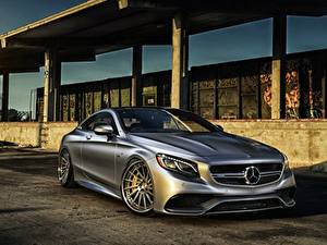 Pictures Mercedes-Benz Silver color AMG Coupe S-Class C217 Cars