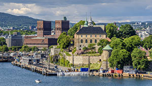 Pictures Norway Oslo Houses Marinas Bay Cities