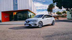 Fotos Renault Weiß Metallisch Hybrid Autos  automobil