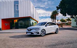 Desktop hintergrundbilder Renault Weiß Metallisch Hybrid Autos  automobil