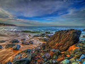 Hintergrundbilder Vereinigte Staaten Meer Küste Steine Landschaftsfotografie Wasserwelle Kalifornien HDR Laguna Beach Natur